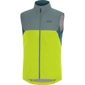 GORE WEAR R7 Partial Gore-Tex Infinium Gilet Uomo, citrus green/nordic blue